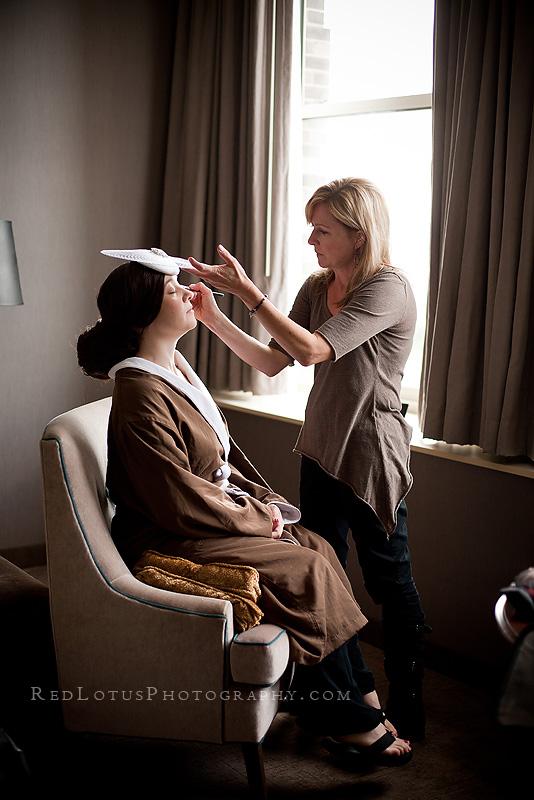 Makeup artist Debbie Maker